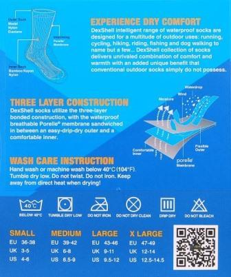 Dexschell waterdichte sokken middel hoog-10279