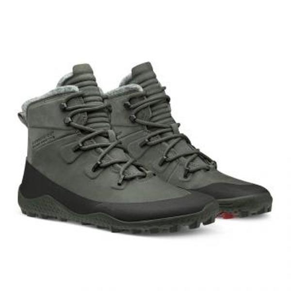 Barefoot wandelschoen Tracker Snow Men van VIVOBAREFOOT Bovenmateriaal: 100% Pittards-leer Pro5: innovatieve, lekbestendige zooltechnologie Soft-Ground buitenzool: 3 mm basis met 5 mm profiel Uitneembare thermische binnenzool met Outlast-technologie Robuuste bergveters en stevige ogen voor een goede pasvorm AW2019 Dit model is normaal